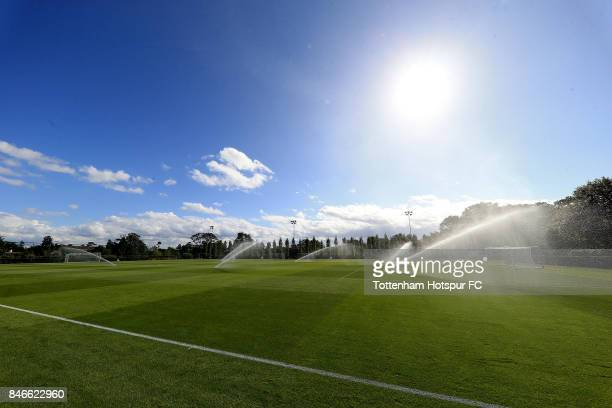 Tottenham Hotspur players train ahead of the UEFA Youth Champions League group H match between Tottenham Hotspur and Borussia Dortmund on September...