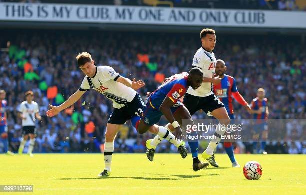 Tottenham Hotspur's Ben Davies and Crystal Palace's Yannick Bolasie battle for the ball