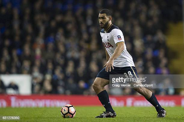 Tottenham Hotspur's Cameron CarterVickers in action during the Emirates FA Cup Third Round match between Tottenham Hotspur and Aston Villa at White...