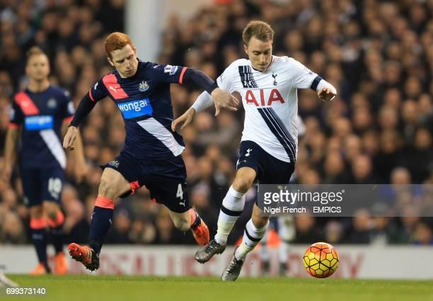 Tottenham Hotspur's Christian Eriksen and Newcastle United's Jack Colback battle for the ball