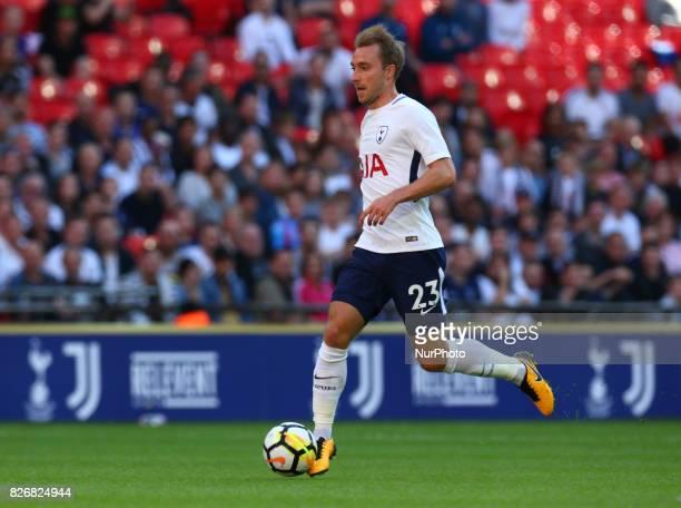 Tottenham Hotspur's Christian Eriksen during the Friendly match between Tottenham Hotspur and Juventus at Wembley stadium London England on 5 August...