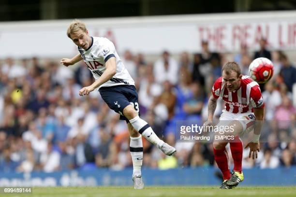 Tottenham Hotspur's Christian Eriksen has a shot on goal