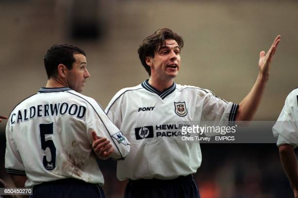 Tottenham Hotspur's Colin Calderwood and Nicola Berti