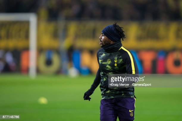 Tottenham Hotspur's Danny Rose during the prematch warmup during the UEFA Champions League group H match between Borussia Dortmund and Tottenham...