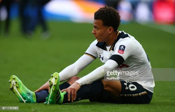 Tottenham Hotspur's Dele Alli afterThe Emirates FA Cup SemiFinal match between Chelsea and Tottenham Hotspur at Wembley Stadium London 22 April 2017