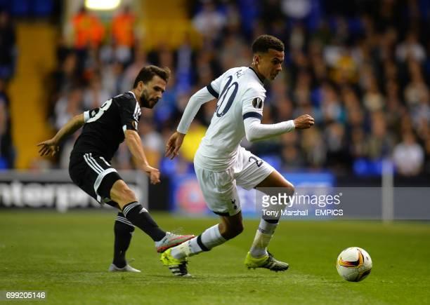 Tottenham Hotspur's Dele Alli and Qarabag's Dani Quintana