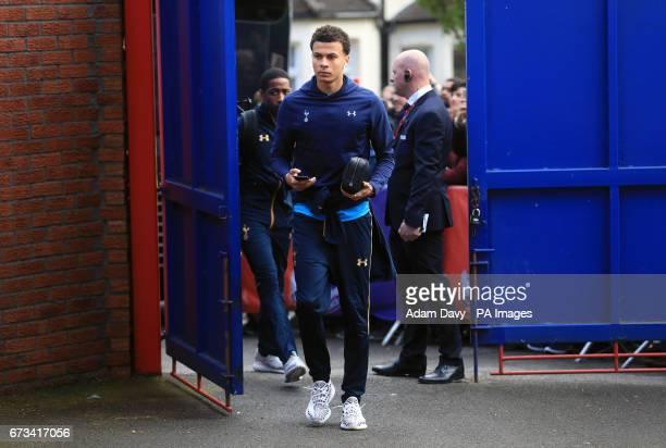 Tottenham Hotspur's Dele Alli arrives for the Premier League match at Selhurst Park London
