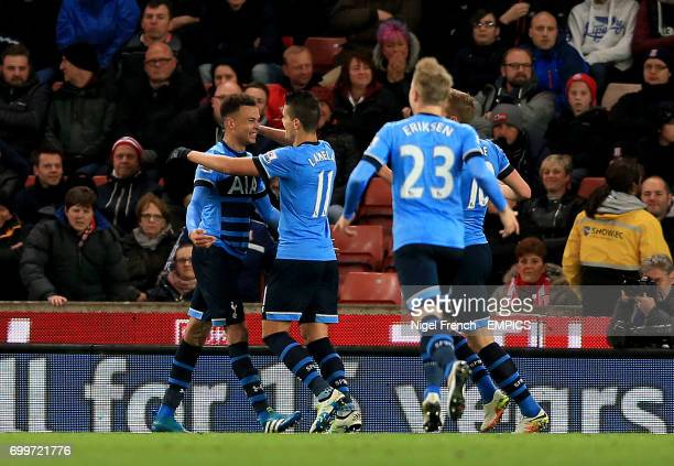 Tottenham Hotspur's Dele Alli celebrates scoring his side's second goal of the game