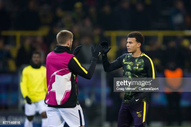 Tottenham Hotspur's Dele Alli during the prematch warmup during the UEFA Champions League group H match between Borussia Dortmund and Tottenham...