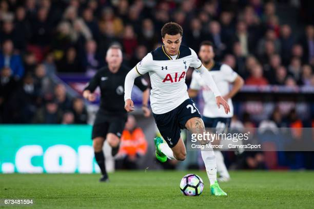 Tottenham Hotspur's Dele Alli in action during the Premier League match between Crystal Palace and Tottenham Hotspur at Selhurst Park on April 26...