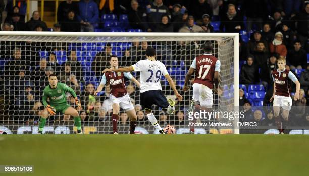 Tottenham Hotspur's Etienne Capoue scores his side's second goal of the game