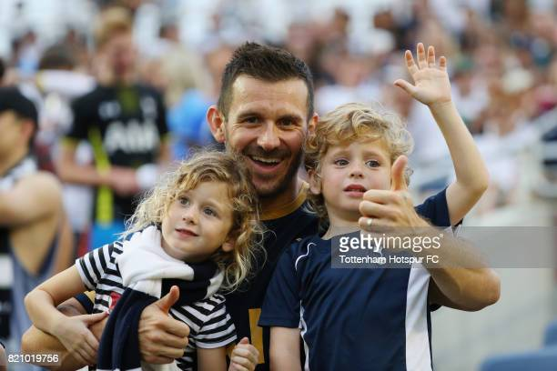 Tottenham Hotspurs fans are seen in ths stands prior to the start of their game with Paris SaintGermain during a International Champions Cup 2017...