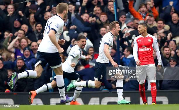 Tottenham Hotspur's Harry Kane celebrates scoring his sides second goal of the match