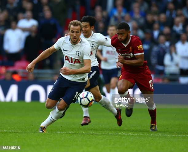 Tottenham Hotspur's Harry Kane during Premier League match between Tottenham Hotspur and Liverpool at Wembley Stadium London 22 Oct 2017