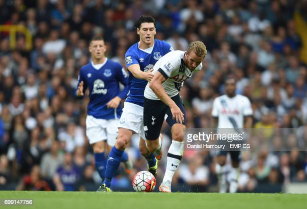 Tottenham Hotspur's Harry Kane is fouled by Everton's Gareth Barry