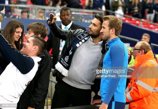 Tottenham Hotspur's Harry Kane poses for a photograph before the Carabao Cup third round match at Wembley Stadium London