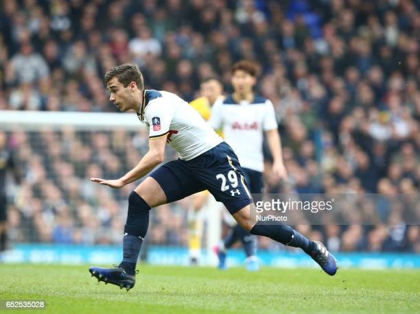 Tottenham Hotspur's Harry Winks during the The Emirates FA Cup Sixth Round match between Tottenham Hotspur and Millwall at White Hart Lane London...