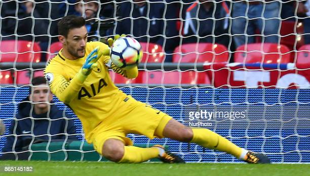 Tottenham Hotspur's Hugo Lloris during Premier League match between Tottenham Hotspur and Liverpool at Wembley Stadium London 22 Oct 2017