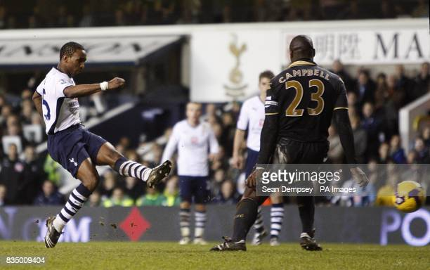Tottenham Hotspur's Jermain Defoe scores the second goal of the game