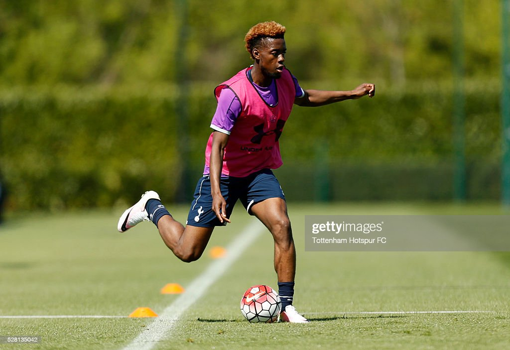 Tottenham Hotspur's Joshua Onomah during training on May 4, 2016 in Enfield, England.
