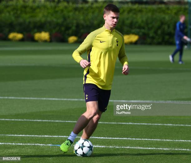 Tottenham Hotspur's Juan Foyth during a Tottenham Hotspur training session ahead of the UEFA Champions League Group H match against Borussia Dortmund...