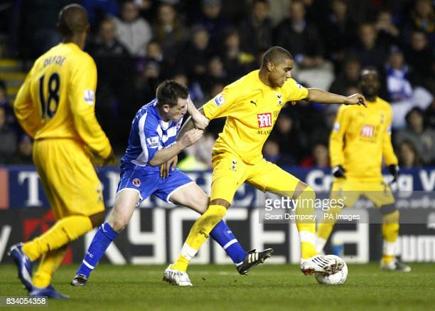 Tottenham Hotspur's KevinPrince Boateng and Reading's Nicky Shorey battle for the ball
