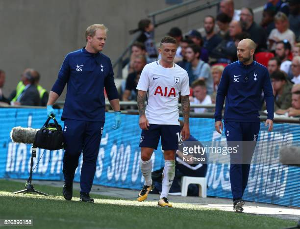 Tottenham Hotspur's Kieran Trippier during the Friendly match between Tottenham Hotspur and Juventus at Wembley stadium London England on 5 August...