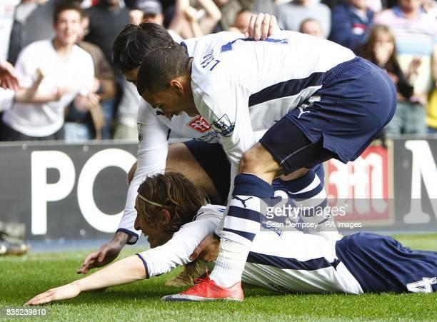 Tottenham Hotspur's Luka Modric celebrates after scoring the first goal
