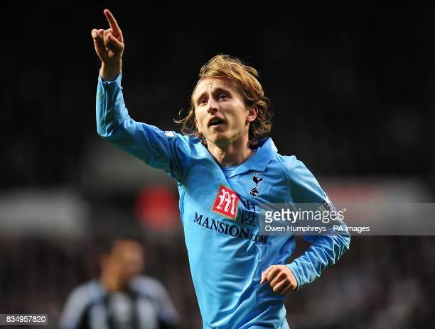 Tottenham Hotspur's Luka Modric celebrates scoring his sides first goal of the game