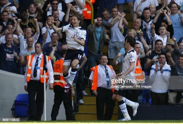 Tottenham Hotspur's Luka Modric celebrates scoring their second goal