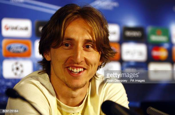 Tottenham Hotspur's Luka Modric during the a Press Conference at White Hart Lane London