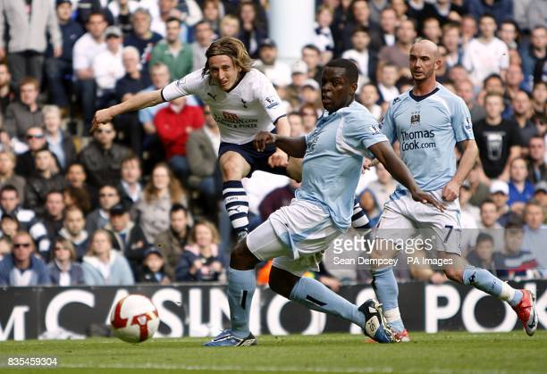 Tottenham Hotspur's Luka Modric has a shot in the second half