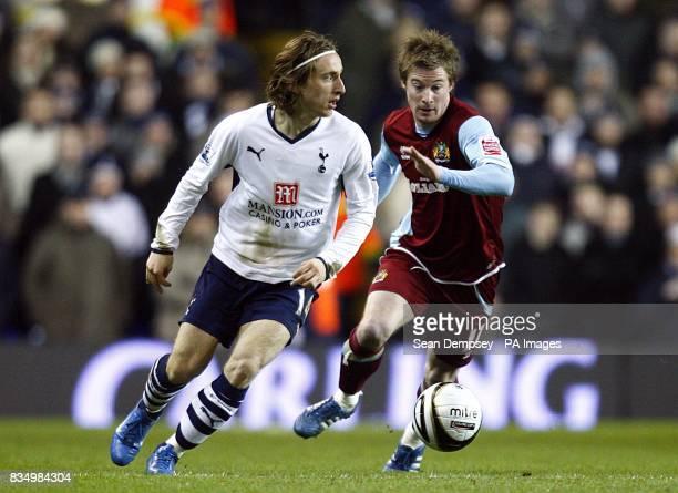 Tottenham Hotspur's Luka Modric in action with Burnley's Wade Elliott