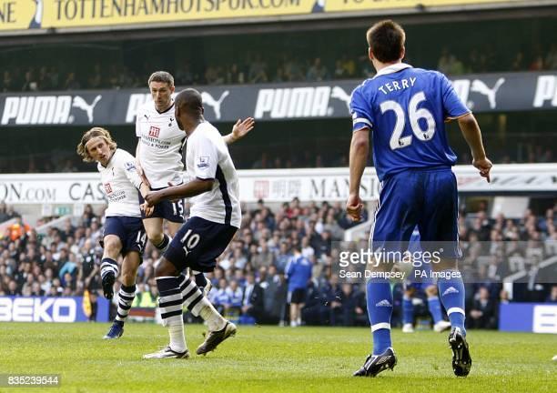 Tottenham Hotspur's Luka Modric scores the first goal