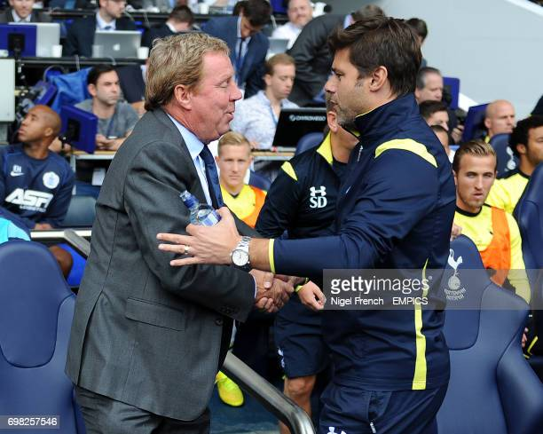 Tottenham Hotspur's Mauricio Pochettino and Queens Park Rangers manager Harry Redknapp greet each other before the game