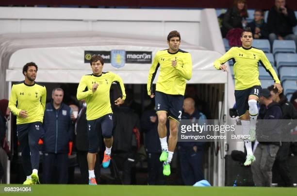 Tottenham Hotspur's Mousa Dembele Benjamin Stambouli Federico Fazio and Tottenham Hotspur's Erik Lamela