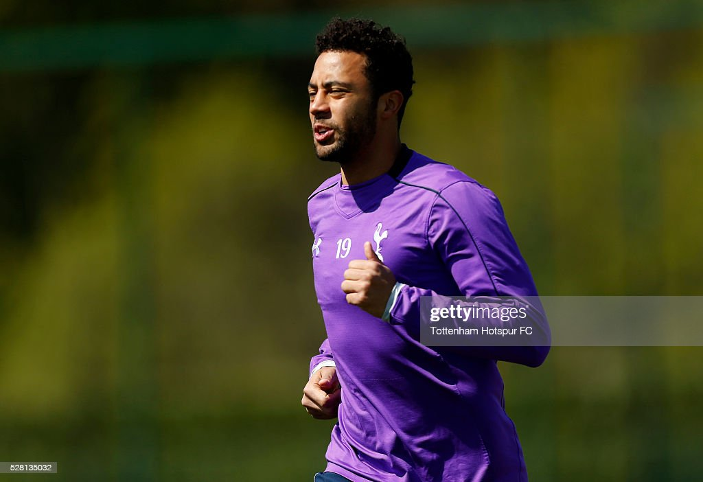 Tottenham Hotspur's Moussa Dembele during training on May 4, 2016 in Enfield, England.