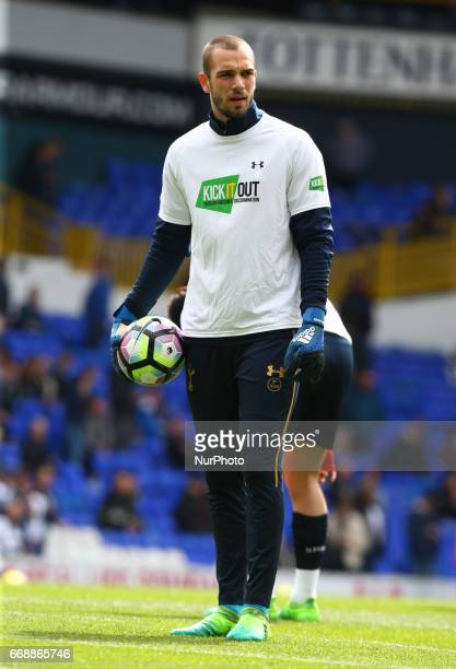Tottenham Hotspur's Pau Lopez during the prematch warmup during EPL Premier League match between Tottenham Hotspur and AFC Bournemouth at White Hart...
