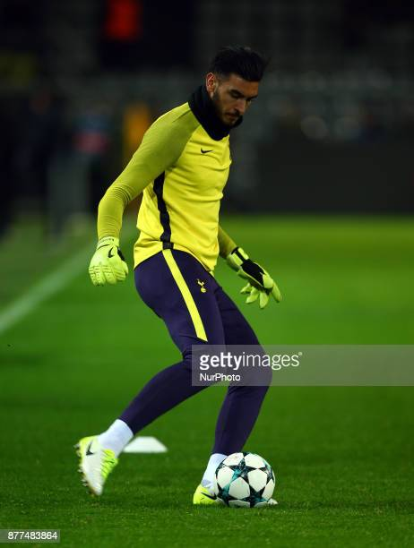 Tottenham Hotspur's Paulo Gazzaniga during the prematch warmup during UEFA Champion League Group H Borussia Dortmund between Tottenham Hotspur played...