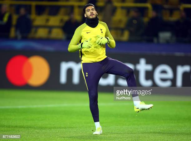 Tottenham Hotspur's Paulo Gazzaniga during UEFA Champion League Group H Borussia Dortmund between Tottenham Hotspur played at Westfalenstadion...