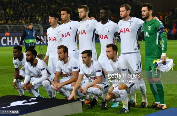 Tottenham Hotspur's South Korean striker Son HeungMin Tottenham Hotspur's English midfielder Dele Alli Tottenham Hotspur's English defender Eric Dier...