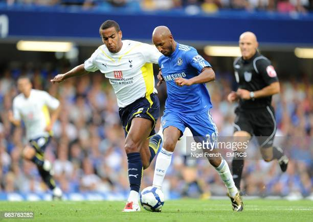Tottenham Hotspurs' Tom Huddlestone and Chelsea's Nicolas Anelka battle for the ball