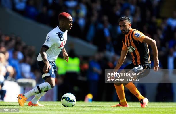 Tottenham Hotspur's Tottenham Hotspur's Danny Rose and Hull City's Ahmed Elmohamady battle for the ball