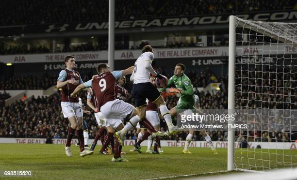 Tottenham Hotspur's Vlad Chiriches heads homes his side's third goal of the game