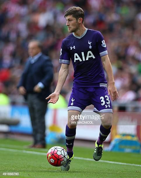 Tottenham Hotspur's Welsh defender Ben Davies controls the ball during the English Premier League football match between Sunderland and Tottenham...