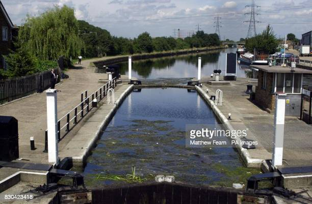 Tottenham Lock on the River Lea in Tottenham north London where Police looking for Andrea Auriglietti recovered a body of a child from the river Five...