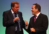 Tottenham Manager Harry Redknapp chats to Jeff Stelling during Gillette Soccer Saturday Live with Jeff Stelling on March 19 2012 at the Bournemouth...