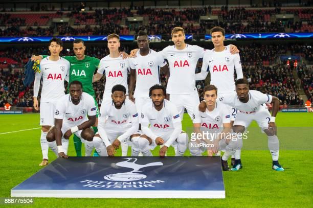 Tottenham team before the UEFA Champions League match between Tottenham Hotspur and Apoel Nicosia at Wembley Stadium London England on 6 December 2017