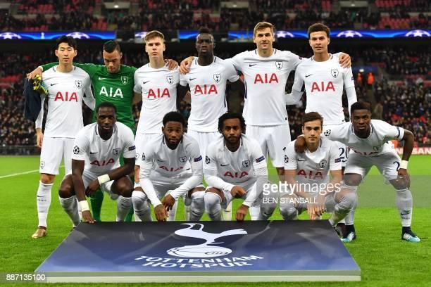 Tottenham team Tottenham Hotspur's South Korean striker Son HeungMin Tottenham Hotspur's Dutch goalkeeper Michel Vorm Tottenham Hotspur's Argentinian...
