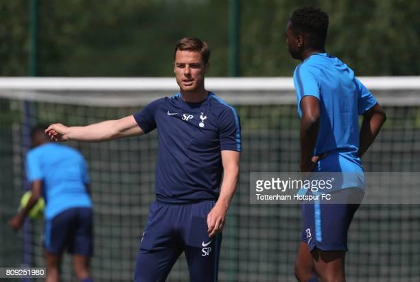 Tottenham Under 18 coach Scott Parker during the Tottenham Hotspur Academy training session at Tottenham Hotspur Training Centre on July 5 2017 in...
